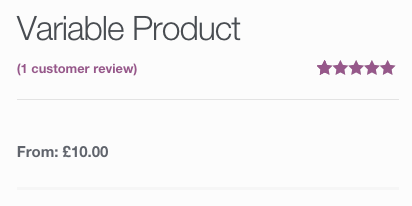 A screenshot of a variable product before WooCommerce 2.1